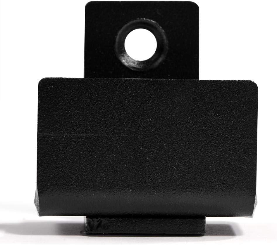 1pc Black Steel Sliding Barn Door Floor Guide Wall Mount Adjustable Double Roller Hardware for Bottom Black with Screws 1 Set