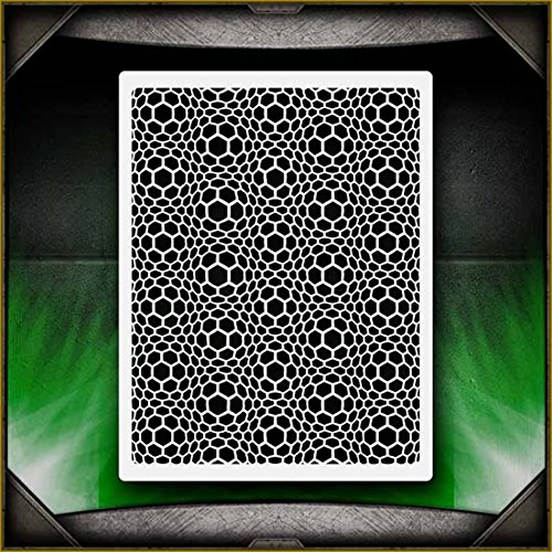 Stained Glass Stone Texture AirSick Airbrush Stencil Template
