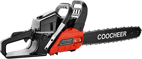 COOCHEER 58CC Chainsaw 20 Gas Powered Chain Saw 2 Stroke Handed Petrol Cutting Wood Chainsaw