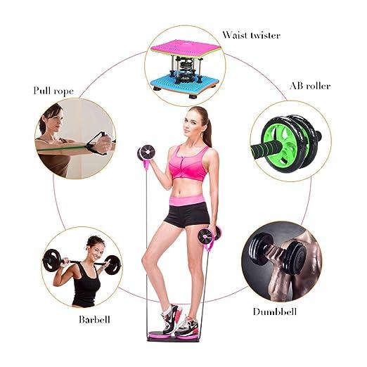 blueidea® Portátil multifunción Mini gimnasio en casa Fitness ejercicio Abdominal Ab Roller rueda de cintura mango máquina de ejercicio, verde: Amazon.es: ...