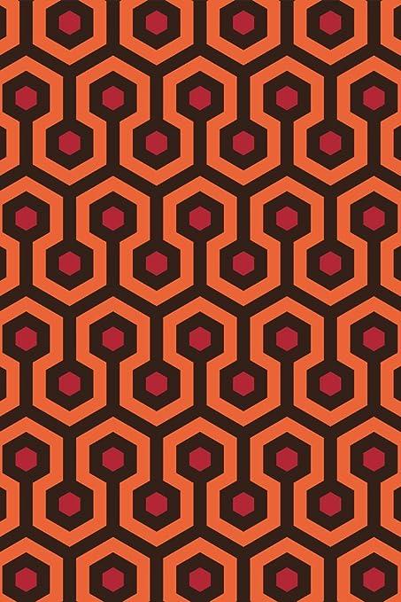 amazon com overlook hotel retro carpet hexagon pattern art print