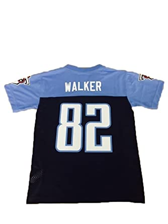 c9bf1f097685 Delanie Walker Tennessee Titans  82 NFL Youth Navy Home Mid Tier Jersey  (Small 8