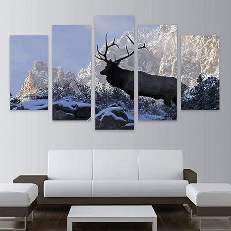 KGKBH 5 lienzos Pared Arte Lienzo HD Impresiones imágenes ...