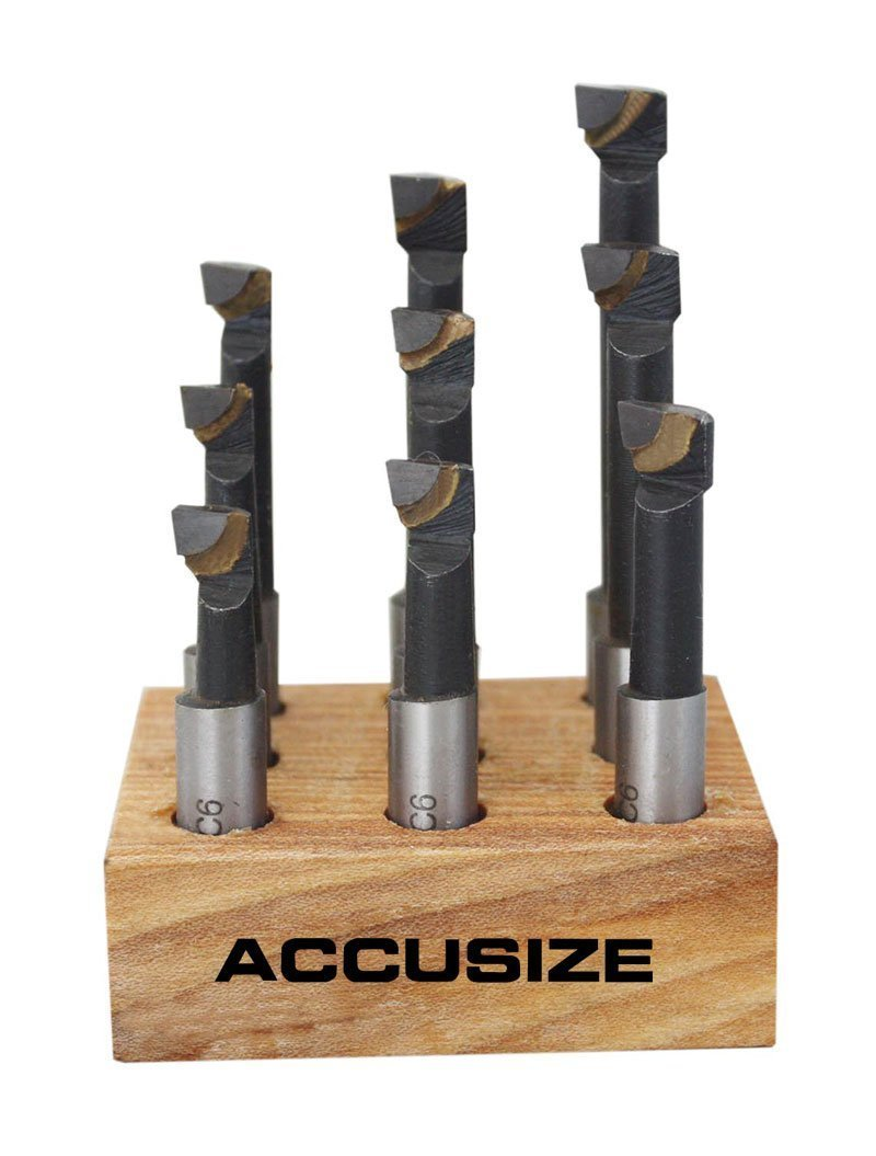 Accusize - Jeu de 9 de carbure barres d'alésage; taille: 3/8''. #0375-0111 Accusize Co. Ltd.