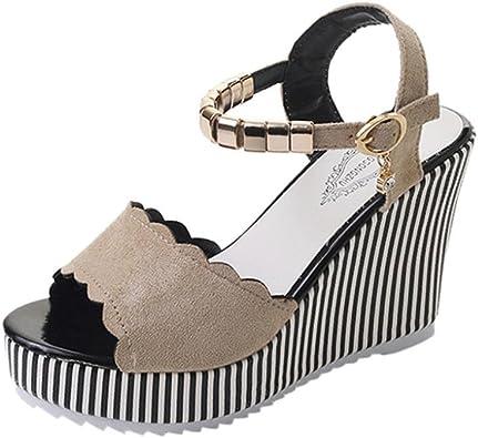 LUCKYCAT Sandales d'été Femme, Amazon Chaussures de Été