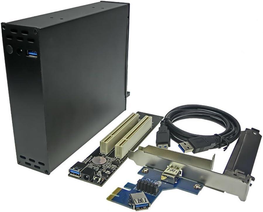 HD PCI-E To PCI Riser Card Optical Drive HubBay 2 Slot 32bit PCI Dock