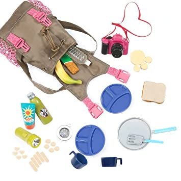 Camping Hiking Backpack With Fun Accessories For 18quot Doll
