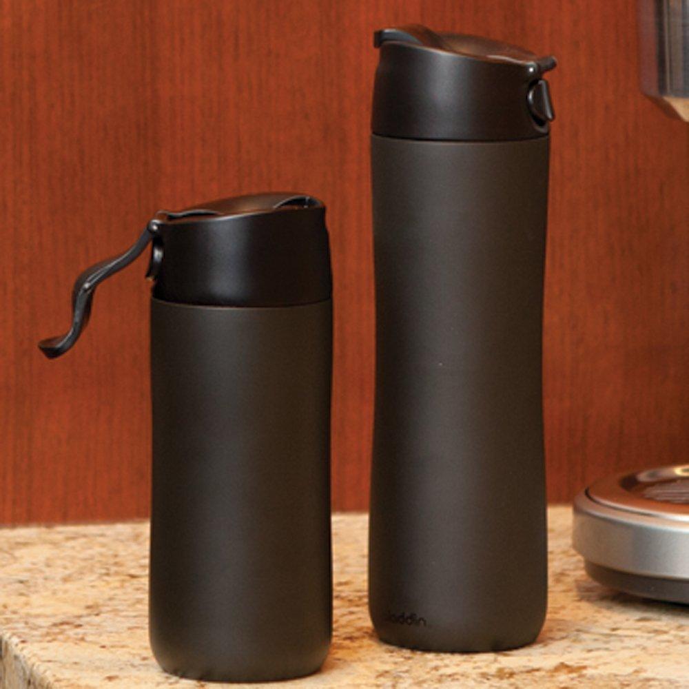 Amazon aladdin coffee mugs - Amazon Com Aladdin Flip And Sip Vacuum Insulated Mug 12 Ounce Black Kitchen Dining