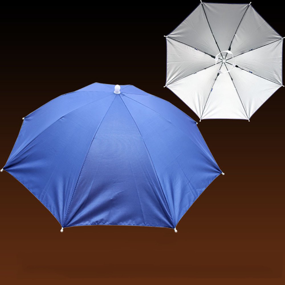 Hattfart Umbrella Hat for Sun and Rain Foldable Sun Shade Headwear for Camping Fishing Outdoor Sports by Hattfart (Image #2)