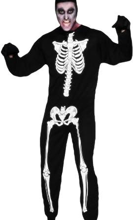 erdbeerloft – Hombre Halloween Esqueleto cuerpo entero Traje ...