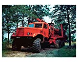 1966 KRAZ 255 L Timber Carrier Photo Poster Russia