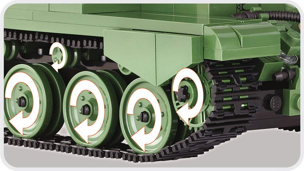 Green Cobi 3014A34Comet Construction Game Model World of Tanks War Gaming Toy