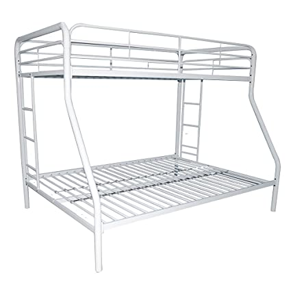 Bestmassage Twin Full Metal Bunk Bed Durable Steel Frame Bunk Bed With Ladder