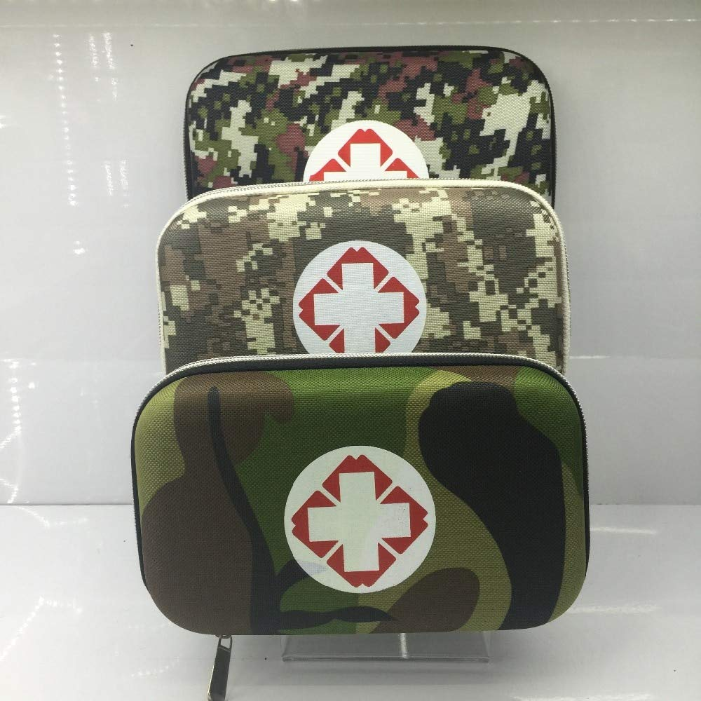 VT BigHome Empty Military, Camouflage First Aid Box Portable Emergency Bag Medicine Box Vehicle Mounted Medical Package Travel Package