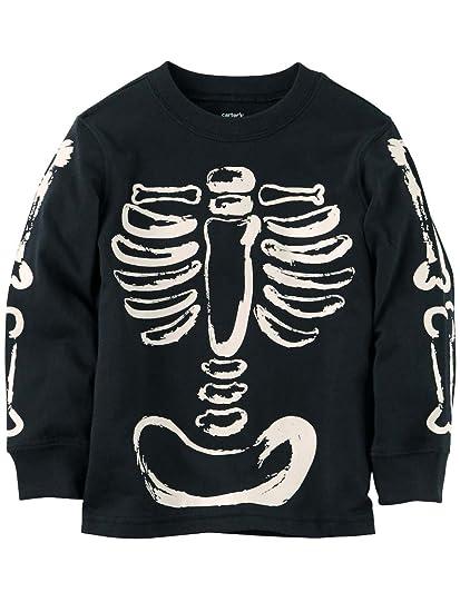 4c9d87d6 Amazon.com: Carter's Baby Boys' Glow-in-The-Dark Skeleton Graphic ...