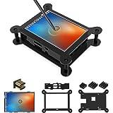 For Raspberry Pi 3.5 inch Touch Screen HDMI Monitor TFT LCD Display with Case, 480x320-1920x1080 pixel [Support Raspbain, Ubuntu, Kali, RetroPie system]