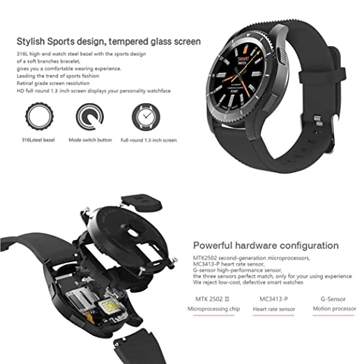 Amazon.com: Baynne No.1 G8 Smartwatch Bluetooth 4.0 MTK2502 ...