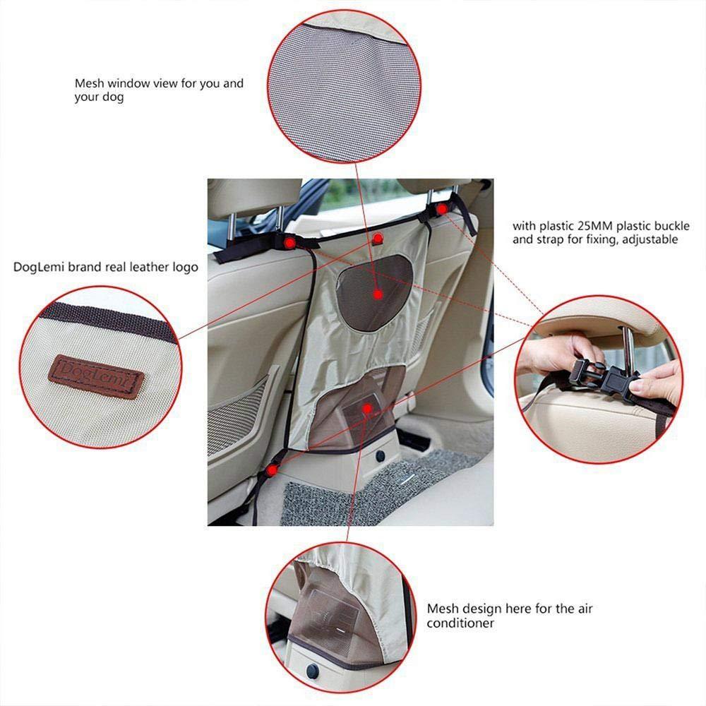 AUOKER Pet net barriera per auto disturbare tappo da bambini e animali domestici Dog barriera per una guida sicura auto barriera Adjustablepet veicolo barriera Backseat mesh divisore