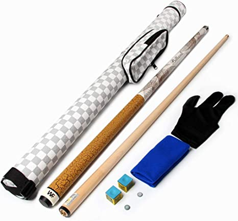 WXS Pool Cue, Maple 1/2 Split Tacos de Billar Manual Barra Nueve Bolas Big Head Negro Ocho Billar Bar Snooker con Varilla (Color : #2): Amazon.es: Deportes y aire libre