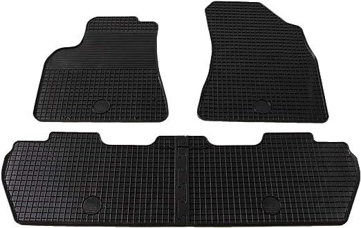 Asientos Variables MPV // Peugeot Rifter 9//2019- Gledring 0726 Alfombrillas de Goma Compatible con Citro/ën Berlingo Multispace//Opel Combo Tour Negro Perfil T 5-Partes + Clips de Montaje ovalo