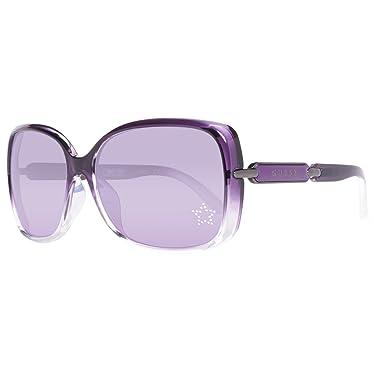 Guess GU7296-60O55 Gafas de sol, Morado, 60 para Mujer ...