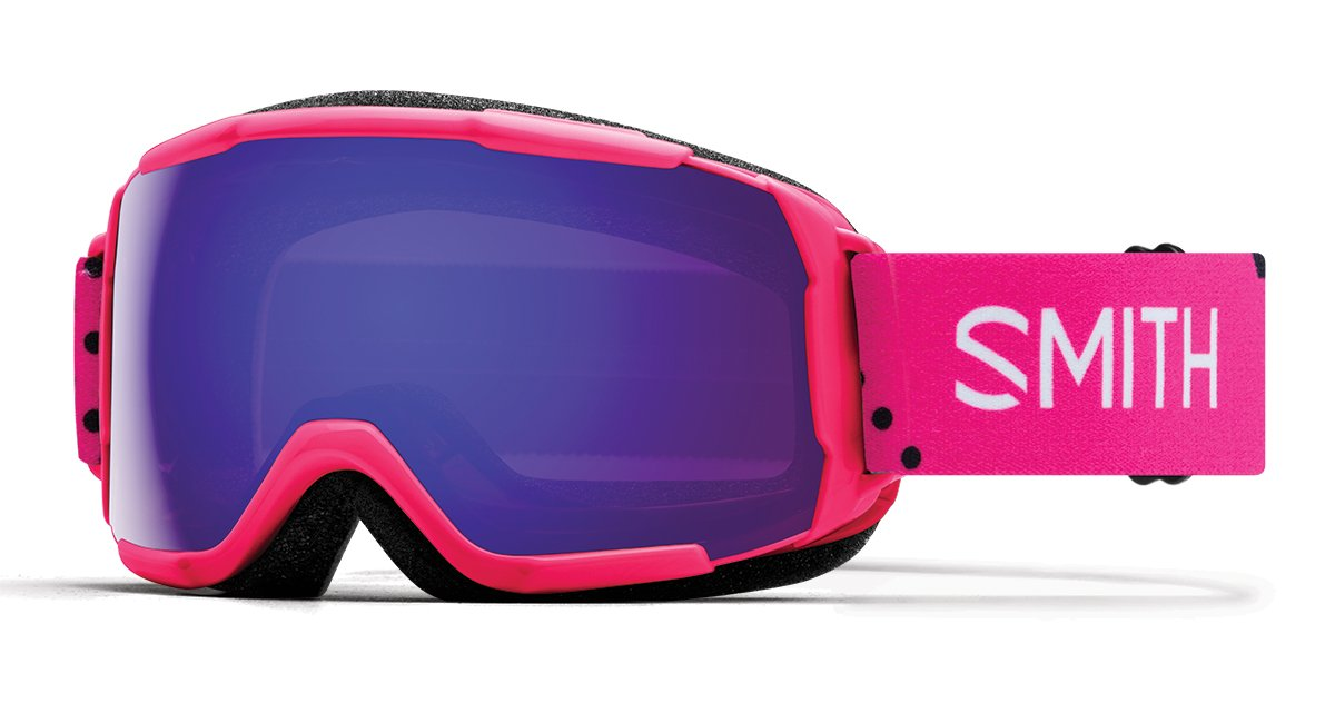 a27710a09a44 Amazon.com   Smith Optics Grom CP Asian Fit Goggle - Pink Monaco Frame ChromaPop  Everyday Violet Mirror   Sports   Outdoors