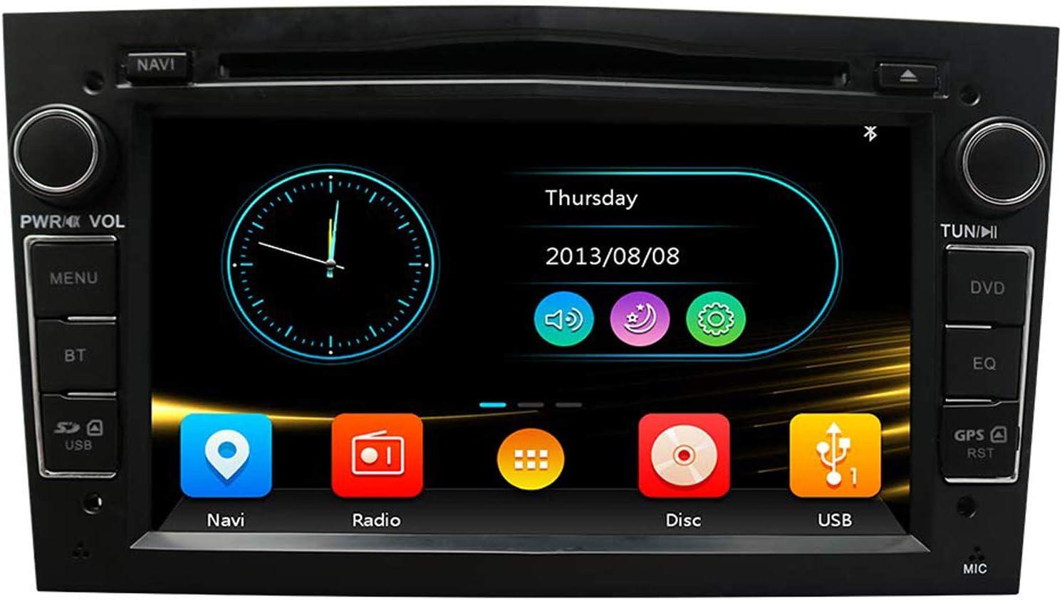 Autoradio In Dash Head Unit Navigation Für Opel Vauxhall Corsa Vectra Antara Meriva Astra Vivaro Zafira 7 Zoll Touchscreen 2 Din Bluetooth Mit Rückfahrkamera 16 Gb Sd Karte 3 5 Mm Mikrofon Navigation