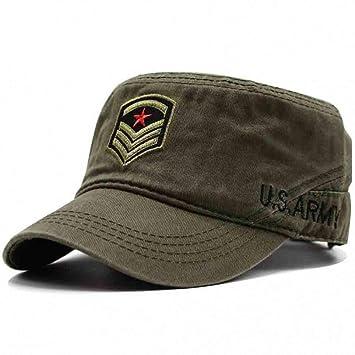 FHHYY Gorra Militar Sombrero Hombres Vintage Sombrero Plano ...