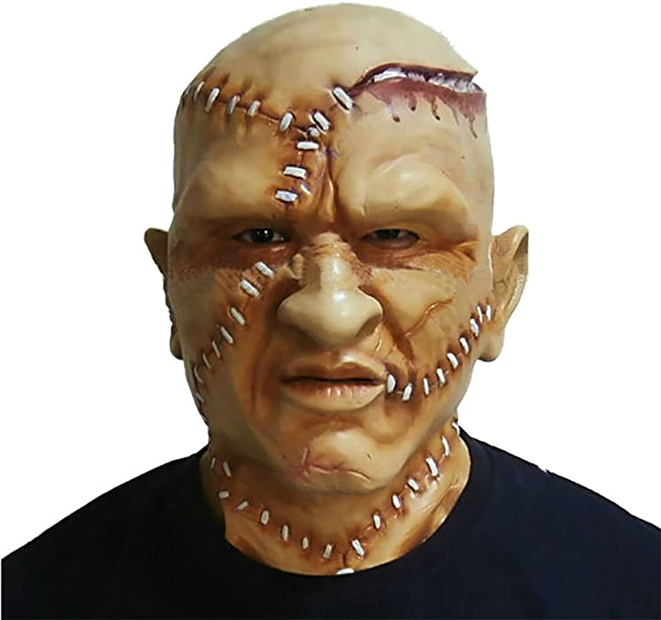 realistic latex bald head mask scary human head masks halloween costume fancy dress