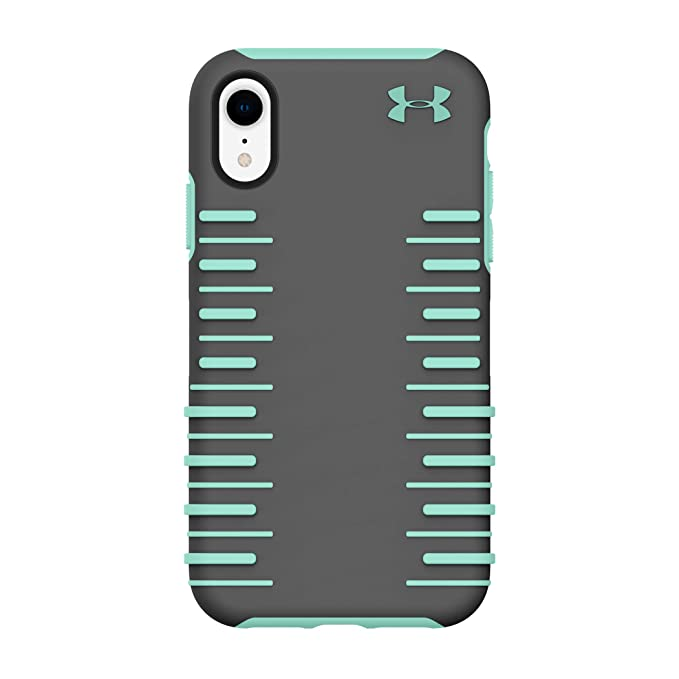 super popular 9f322 88ad1 Under Armour Phone Case | for Apple iPhone XR | Under Armour UA Protect  Grip 2.0 Case with Rugged Design and Drop Protection - Graphite/Crystal
