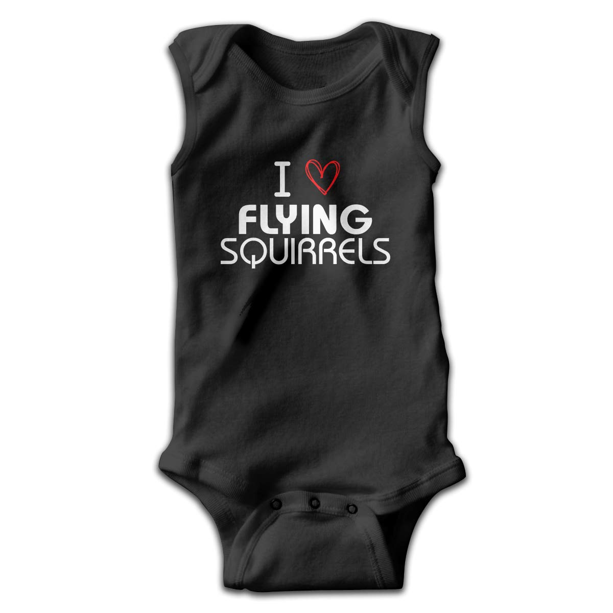 I Love Flying Newborn Baby No Sleeve Bodysuit Romper Infant Summer Clothing Black