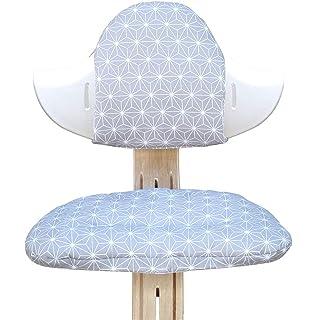 Sitzkissen Set f/ür Nomi Hochstuhl von Evomove Hellblau P/ünktchen Blausberg Baby