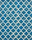 A2Z Rug Indoor/Outdoor Rug Turquoise 8′ x 10′ -Feet Transitional Collection Area Rugs – Perfect for Outdoor Carpet