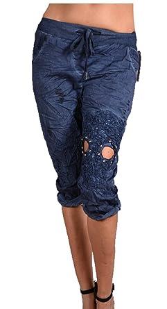 8a5fd68206 Damen Sommer Leichte Shorts Spitze Hose Chino Bermuda Pumphose 34 36 38 40  42 XS S M L