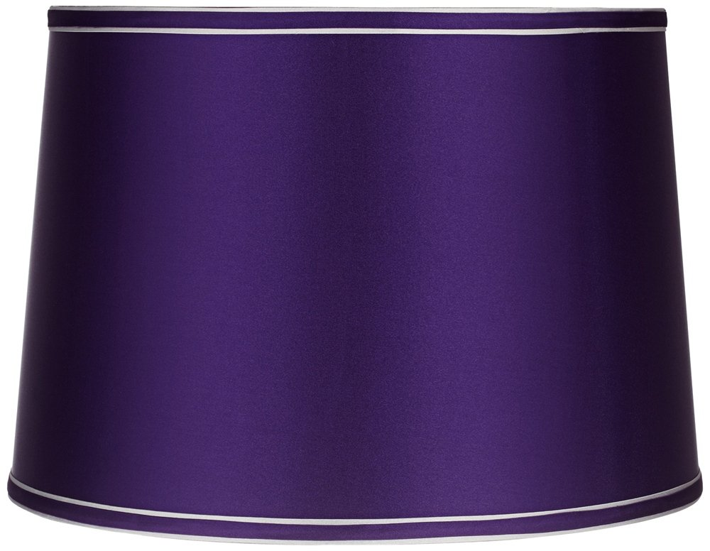 Sydnee Satin Dark Purple Gray Trim Shade 14x16x11 (Spider)
