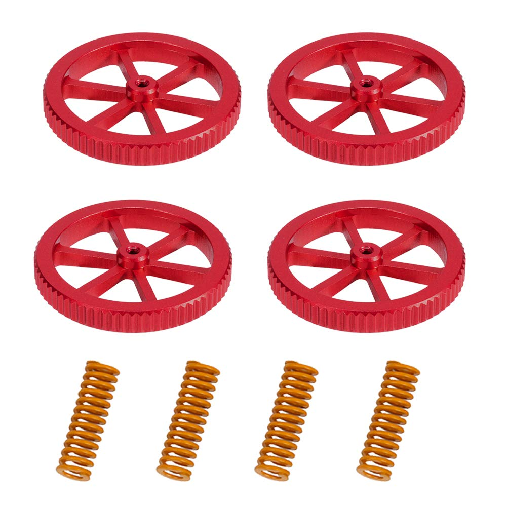 CR 20 3D Printer 4PCS Creality Aluminum Hand Twist Leveling Nut with 4PCS Hot Bed Die Springs for Ender 3//3 Pro CR-10 Ender 5//5 Plus//Pro CR10S//10S Pro