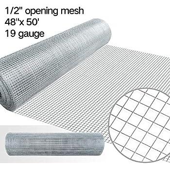 amazon com 48x50 hardware cloth 1 4 inch square galvanized chicken