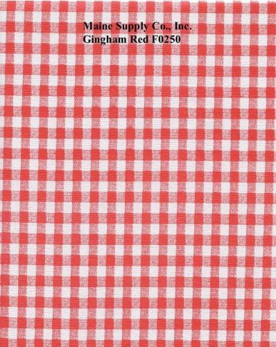 (Red Gingham Series F0250 Vinyl Tablecloth 54