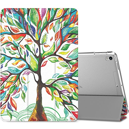 MoKo Case Fit iPad Pro 10.5 2017 - Slim Lightweight Smart Shell Stand Cover with Translucent Frosted Back Protector Fit Apple iPad Pro 10.5 Inch 2017 Released, Lucky Tree (Auto Wake/Sleep)