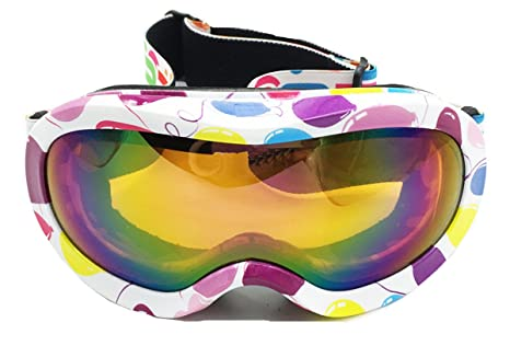6b2a582e3ce BeBeFun Ski Goggles Glasses for Toddler and Kids with Double Lens Anti-fog  for Girl