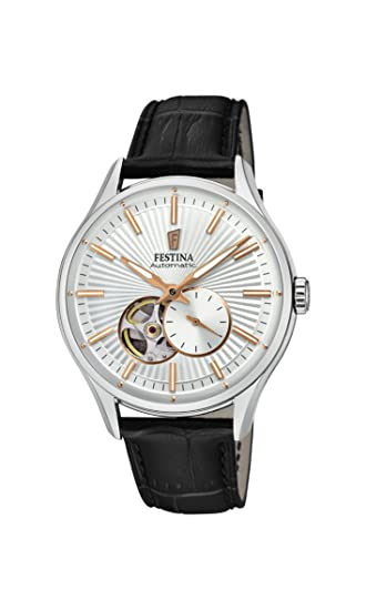 Festina Reloj Análogo clásico para Hombre de Automático con Correa en Cuero F16975/1