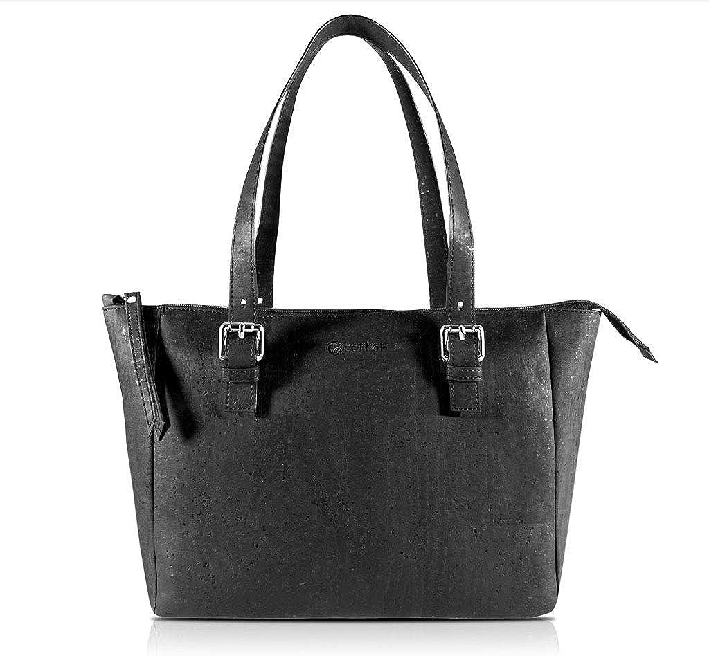Corkor Cork Purse Vegan Handbag for Women   Cruelty Free Satchel Non Leather   Roomy Bag