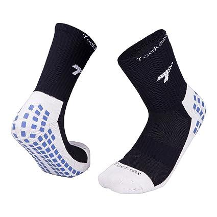Autbye Antideslizantes Calcetines de fútbol Suerte 7 (2017 Diseño) Tubo Medio Antideslizante Calcetines De