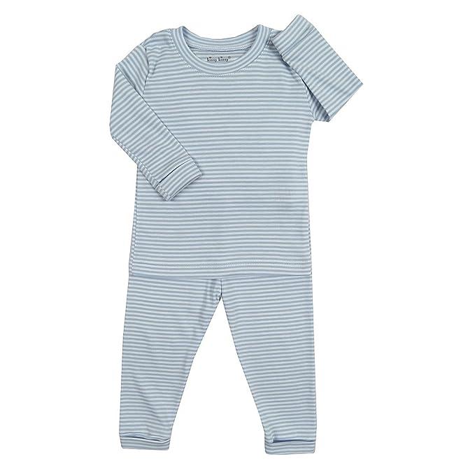 50dd3def02 Amazon.com: Kissy Kissy Little Boys' Pajamas Year Round Stripe - Blue:  Clothing