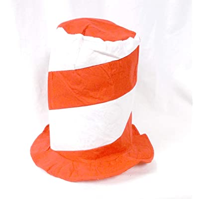 U.S. Toy Red and White Stovepipe Felt Hat (1): Toys & Games
