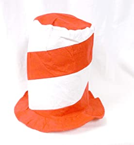 U.S. Toy Red and White Stovepipe Felt Hat (1)