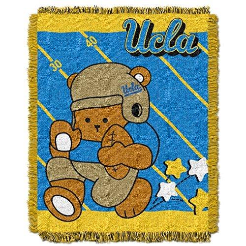 NCAA UCLA Bruins Fullback Woven Jacquard Baby Throw Blanket, 36x46-Inch by Northwest