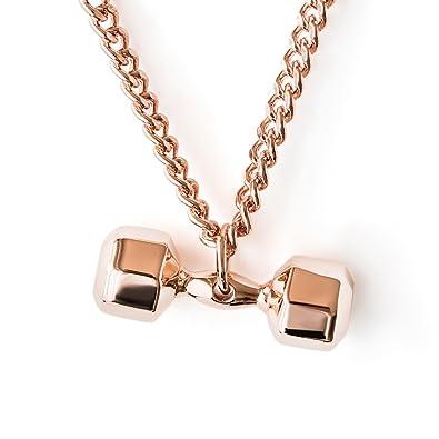 Bañado en Oro Rosa Recubierto Collar Siete Cara Colgante Fitness Gimnasio Jewelry Crossfit Accesorio: Amazon.es: Joyería