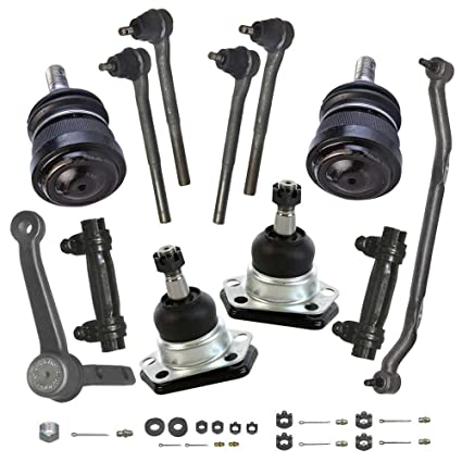 Prime Choice Auto Parts TIERODPKG0035 6pc Front Suspension Package 4 Tie Rod Ends 2 Ball Joints