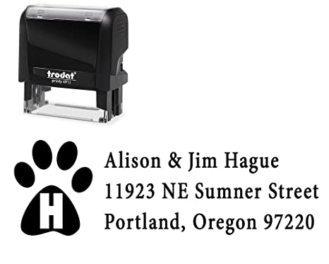 amazon com self inking custom stamp 3 lines variety of designs